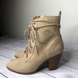 JustFab Isobel Heel Booties, Size 8